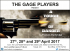 The Gage Players present A Touch of Danger by Francis Durbridge