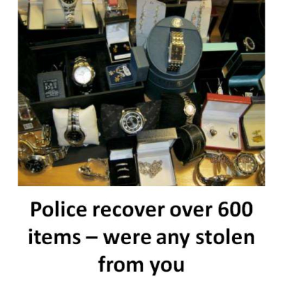 Huge haul of stolen jewellery recovered by Surrey Police