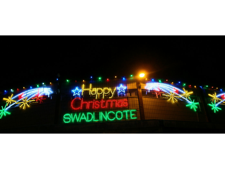 Image result for christmas lights switch on swadlincote