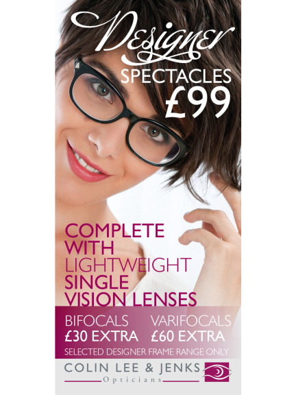 Designer frames for less this month at Colin Lee Opticians Walsall !