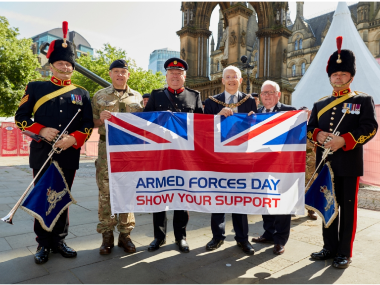 Manchester raises the flag for Armed Forces Day