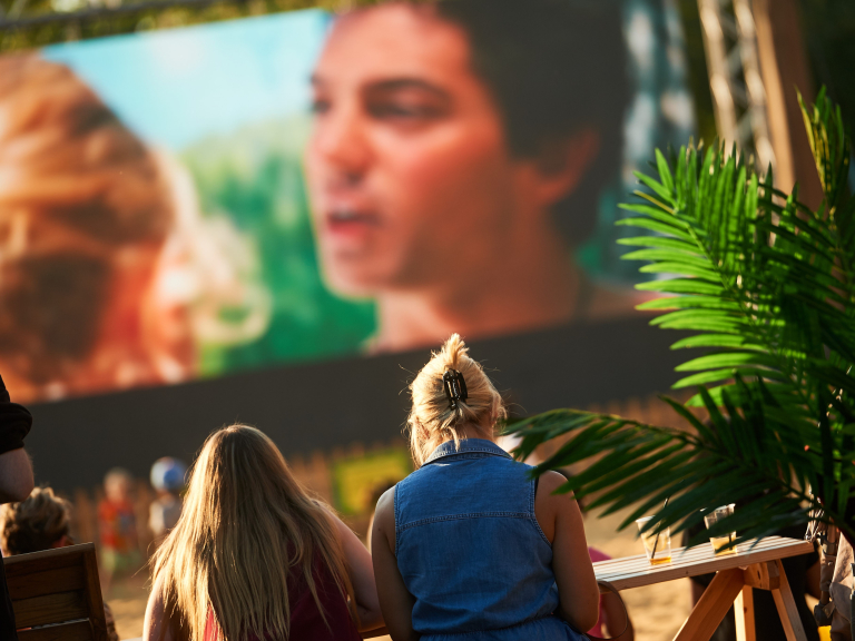 Due to popular demand, the Big Screen on the Beach is back!