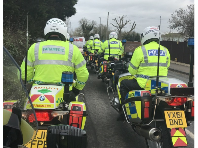 Ambulance and police work together to keep roads running smoothly this summer