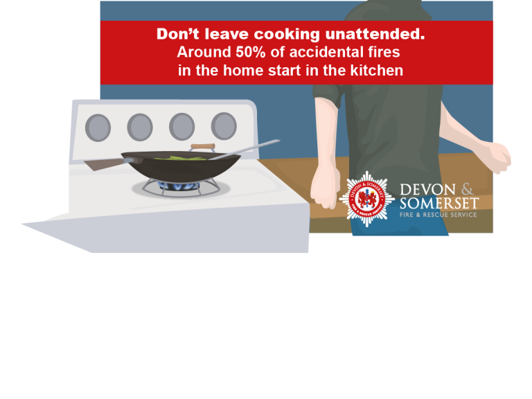 Don't be distracted while in the kitchen!