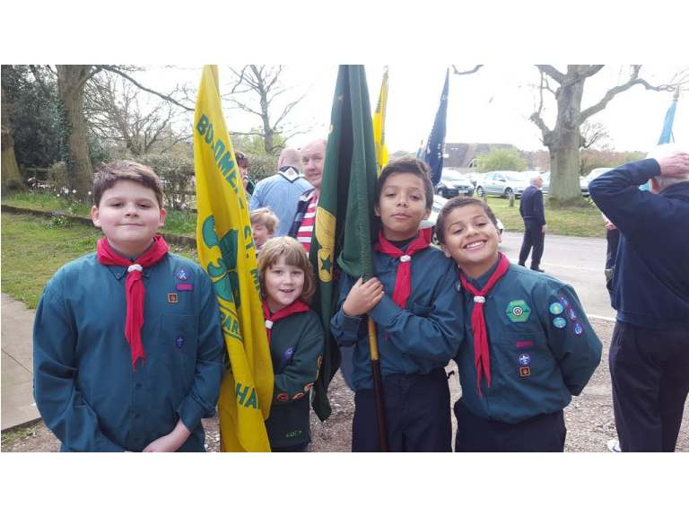 Scouts Celebrate St George's Day in Sutton Park