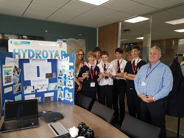 Exeter pupils impress with sustainable hydro-electric invention