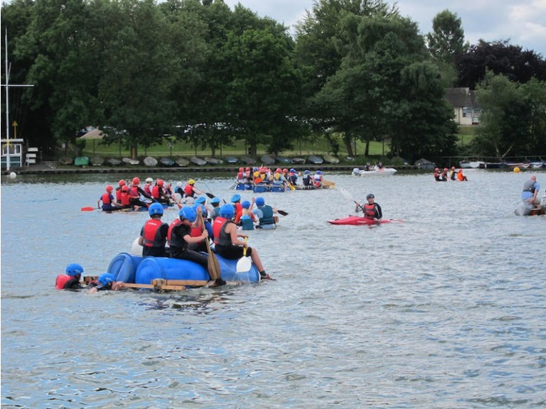 Aquatic Action with Annual Sutton Coldfield Scout Raft Race