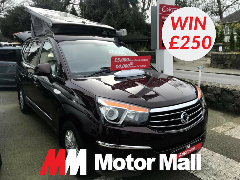 WIN £250 CASH WITH MOTOR MALL