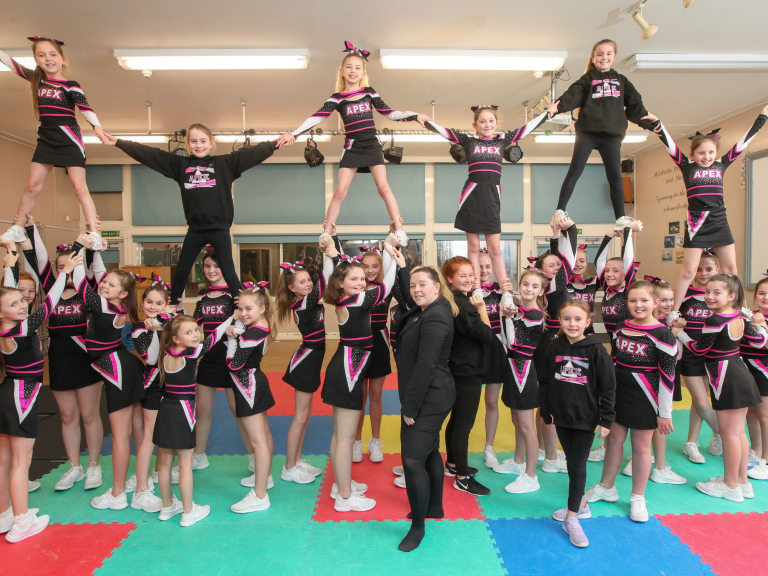 REDROW CHEERS ON NANTWICH CHEERLEADERS