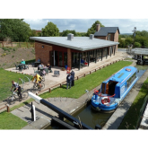 Boats and Trains at Hollingwood Hub Chesterfield