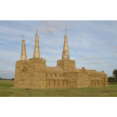 Lichfield Cathedral made out of straw