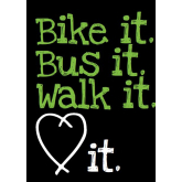 Bike it -Walk it- Bus it-in Bury St Edmunds