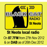Black Cat Radio - St Neots Local Radio Station back on 87.7FM again Nov 27th
