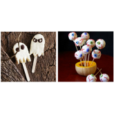 Malloween Ghosts and Eerie Eyeball Pops - Great Halloween Recipes