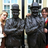 Funny man John Bishop is seen filming his new Comedy series at The Coronation Hall, Ulverston.