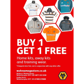 BUY 1 GET 1 FREE OFFER FROM WOLVES FC