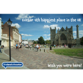 Exeter the 4th Happiest Place in the UK