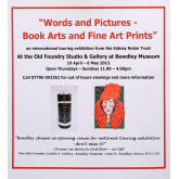Words and Pictures an International Touring Exhibition from the Sidney Nolan Trust at Bewdley