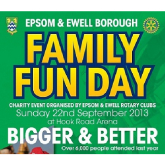 Epsom & Ewell – Family Fun Day – advertise and book your pitch now – don't miss out @epsomrotary
