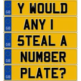 Get your number plate secured for free
