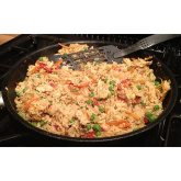A Lowestoft favourite Recipe - Chicken, Peas and Egg Fried Rice