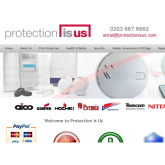 Protection is Us - the great new e-commerce site for Fire and Security equipment.