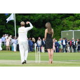 Liz Hurley And Shane Warne At Cirencester Cricket Club