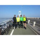 11 men, 11 bikes and just 36 hours to cycle from Paris to Sapperton!