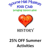Bourne Hall Museum Kids Club – Summer Activities  – 25% Off events @epsomewellbc #horriblehistory