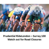 Prudential RideLondon-Surrey 100 cycling-  around the area – some roads may be closed Sun 4th Aug… @RideLondon
