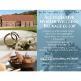 Winter Wedding Package… Amazing Value!
