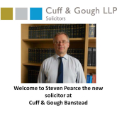 Cuff & Gough welcome commercial & residential property solicitor Steven Pearce to their Banstead practice @ CuffandGoughLLP