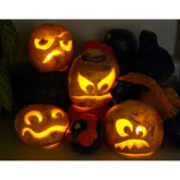 Halloween, Samhain, turnips and pumpkins