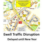 Ewell road works – to be delayed until New year @epsomewellbc