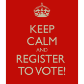 Remember to register your vote
