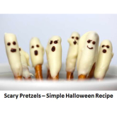 Halloween Ghost Pretzels – simple to make but scary!! Impress the kids