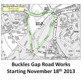 Buckles Gap Epsom Downs Flooding – works to start 18th Nov – suggested diversions @epsomewellbc