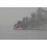 Littlehampton Fisherman Rescued From Blazing Boat