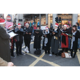 Carolling in the streets of Cheltenham