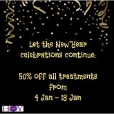 Kerie Hoy Salon Offering 50% off all Treatments until January 18th!