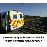 M25 speed cameras in Surrey – will be watching you soon