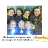 Brownies are 100 years old – shine a light on their celebrations  @girlguiding