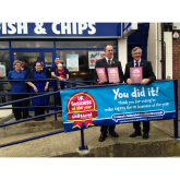 The Most Loved Business in the UK – Big Fry Fish and Chips receive their award