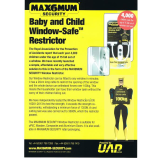 Max6mum Security® Baby and Child Safe Window Restrictors available at Goldilocks Locksmiths