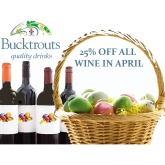 BUCKTROUTS WISH YOU A HAPPY APRIL WITH 25% OFF ALL WINE!