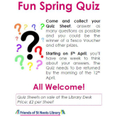 Fun Spring Quiz starting 5th April - St Neots Library