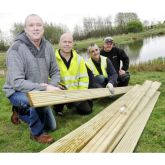Mojo Trust replace stolen decking for a local charity
