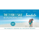 Luxury 2 for 1 All-inclusive Sandals Holidays