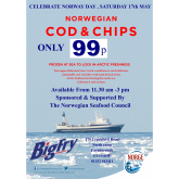 BIG FRY FISH AND CHIPS TO OFFER COD AND CHIP LOVERS 99P PORTIONS TO CELEBRATE NORWAY DAY