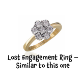 Can you help an elderly lady find her lost yellow gold engagement ring?